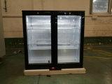Refrigerador posterior de la botella de la barra de la congelación rápida de la venta de la alta calidad del ápice el mejor con la certificación del Ce