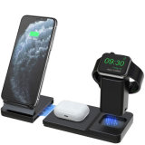 Draadloze oplader 10 W Qi Fast 3 in 1 oplaadstation Dock voor Apple Watch, Airpods PRO/2, iPhone SE 2020/11 PRO Max/xr/XS/X/8 Plus Afneembare en magnetische draadjes