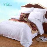 Le linge de maison de l'hôtel Yrf PC simple 4 Commerce de gros 3cm bande satin de coton blanc Ensemble de literie