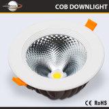 2 года гарантии на весь срок службы ослепляет свободного умирают литой алюминиевый светильник 10W 15W 30W 60W встраиваемый светодиодный затенения