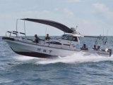9.6m/31FTのガラス繊維のパンガ刀の小屋の漁船