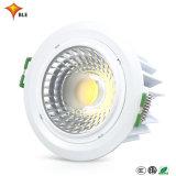 BLE de mazorca de alta calidad liderado por la luz LED integrada Lámpara de techo