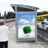 Disegno del riparo prefabbricato fabbrica della fermata dell'autobus del metallo del tabellone per le affissioni