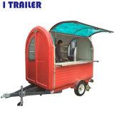 Ingesloten Kar 2 van de Hotdog de Dienende Vrachtwagens van het Voedsel van de Voorwaarde van Deuren Nieuwe voor Verkoop