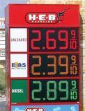 Station d'essence LED numérique signe du prix du gaz d'administration