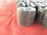 Potenciômetro de flores de granito granito marrom do cemitério de vaso vaso de Funeral