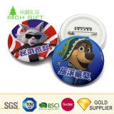多彩なエナメル人および犬のロゴの折りえりPinを押す一義的なデザインカスタム金属