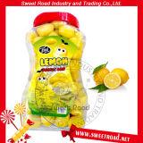 甘い道レモン整形フルーツのような泡チューインガム
