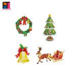 Puzzle de papier de décoration de Noël de jouets de Noël