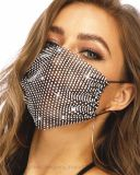 Sparkly Rhinestone Mesh Mask Black Crystal Masquerade Ball Party Nightclub, Date Face Maskers