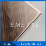 Strato Bronze rosso dell'acciaio inossidabile dell'elevatore della traversa di rivestimento antico della linea sottile