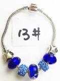 De zilver Geplateerde Armband P 013 van de Charme van de Parels van het Kristal van de Ketting van de Slang