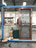 고품질 메시를 가진 주문을 받아서 만들어진 목제와 알루미늄 여닫이 창 Windows