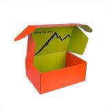 Papel colorido OEM Caixa de Papelão Ondulado Tamanho personalizado para o transporte da Sapata