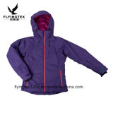 100 % polyester Veste imperméable cation des femmes vêtements respirants d'lady de l'hiver