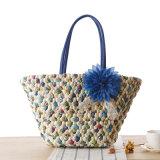 Новые стильные моды Уникальная ручная работа женщин сумочку сумки через плечо соломы