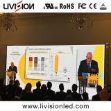 Vídeo a Cores de alta qualidade no interior de parede LED P3.9 Visor LED de aluguer