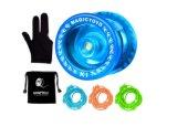 K1 Magicyoyo responsivos iô-iô-iô-iô Plus Sack + 3 Strings Yo-Yo Dom Luvas (cristal azul)