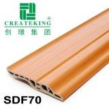 Du grain du bois plastique PVC Flooring mur décoratif plinthe