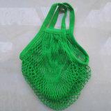 Grüne Baumwollnettobeutel für Frucht-Gemüse (kundenspezifische PMS Farbe annehmen)