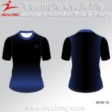Maglietta di stampa di sublimazione di Sportwear 3D dell'uomo di Healong