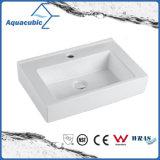 Dispersore di lavaggio della stanza da bagno del Governo della mano di ceramica quadrata del bacino (ACB4548)