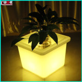 LED Outdoor Garden Plastic Color Changing Plant Pot de fleurs avec LED