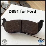 Garniture de frein arrière de Semi-Métal (D881) pour des pièces de véhicule d'explorateur de Ford