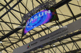 Galaxias-3 P3mm 연약한 LED 커튼에 의하여 구부려지는 LED 스크린 유연한 옥외