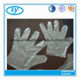 Перчатки руки конкурсного PE сбывания штока фабрики Китая устранимого пластичные