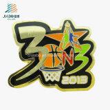 El baloncesto plateado oro directo de China de la fábrica se divierte los contactos de la divisa de Sounenir del metal
