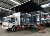 JAC 두 배 택시 이동할 수 있는 단계 실행 차량 LED 확장 가능한 단계 트럭