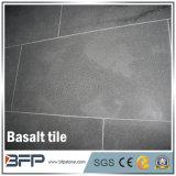 Polished/smerigliatrice le mattonelle nere del basalto della pietra del basalto per la pavimentazione del giardino