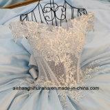 Платье выпускного вечера партии вечера цветка шнурка сатинировки женщин длиннее