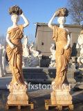 Spleißstelle-römische Steinstatue