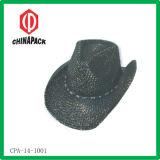 Black Western Straw Cowboy Hat (CPA-14-1001)