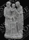 Ребенка статуя в ослепительно белый мраморный МС-101