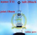 20inchより大きい配水管のボタンおよび蜜蜂の巣のPercの煙るガラス配水管