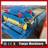Corrugación de la capa doble y rodillo del material para techos del azulejo que forma la máquina