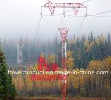 Megatro 230kv, simple circuito Base estrecha torre de celosía de la estructura de acero