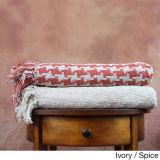 編まれた純粋な綿の投球毛布