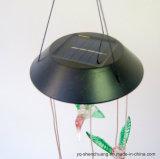 装飾のSL FLHbのためのハチドリが付いている変更の太陽LEDの風チャイムライトを着色しなさい