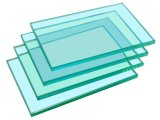 6mm 진한 파란색 플로트 유리/사려깊은 유리