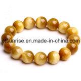 Semi-preciosa preciosa Moda Olho Tigre Amethyst Natural Crystal Beaded Bracelet