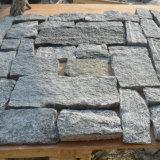 Revêtement desserré de mur en pierre de granit jaune de la Chine (SMC-FS002)