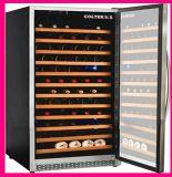Porte en verre de glaçage de vide rocheux de marque pour le refroidisseur de vin