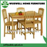 Conjunto de mesa de jantar em madeira de pinho 5PC