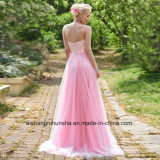 Lacet A - ligne robe de collet d'amoureuse de femmes de demoiselle d'honneur de retours au pays de soirée