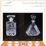 型のダイヤモンドの形デザインのガラスウイスキーボトル