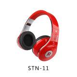 La stereotipia bassa di alta qualità mette in mostra le cuffie senza fili di Bluetooth del giocatore di MP3 del trasduttore auricolare